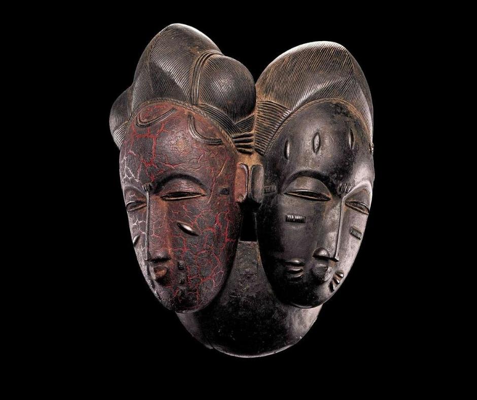 Masque double Baoulé